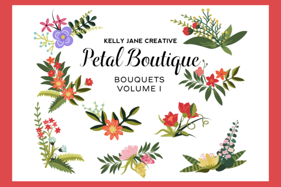 Petal Boutique Bouquets Vol. 1 - Illustrations