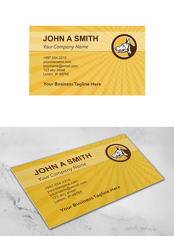Business Card Template Doberman Pins
