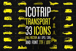 ICOTRIP - Transport bundle icon+font