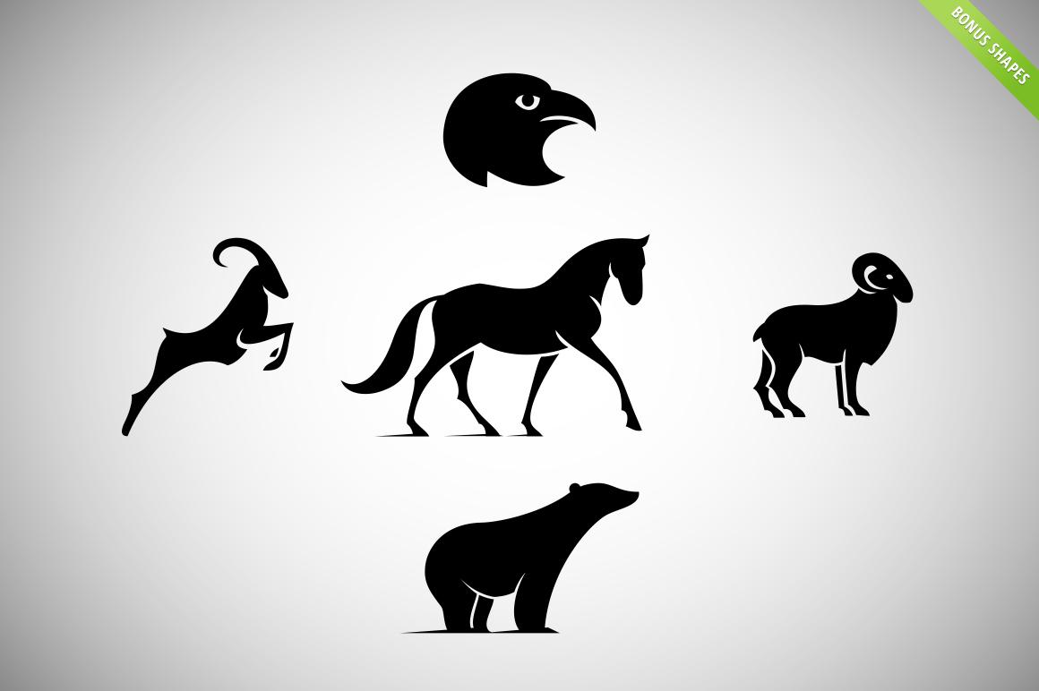 8 Animal Logos Set + Cool Bonuses ~ Logo Templates on ...