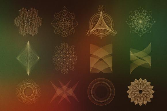 24 Geometric Shapes - Lines (v.2) - Objects