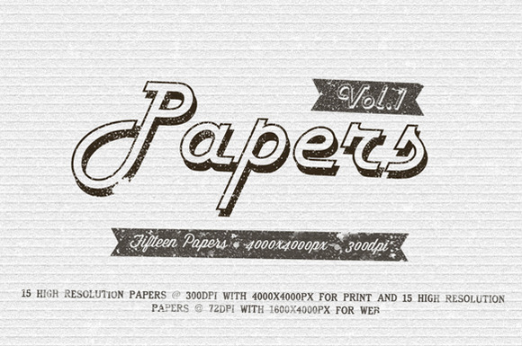 Papers Pack Vol.1 - Textures