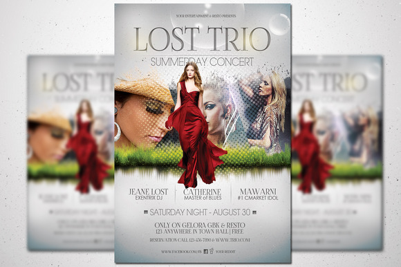 creativemarket-Lost Trio Flyer - Summer Vaganza 43058