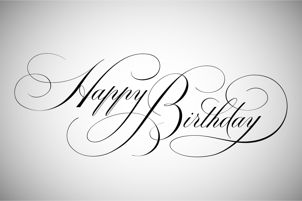 Happy birthday lettering illustrations on creative market