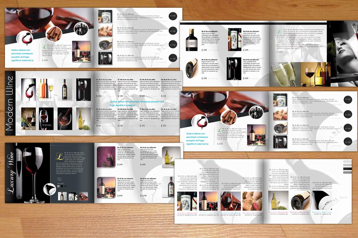Wine A5 Modern Catalogue Brochure Templates On