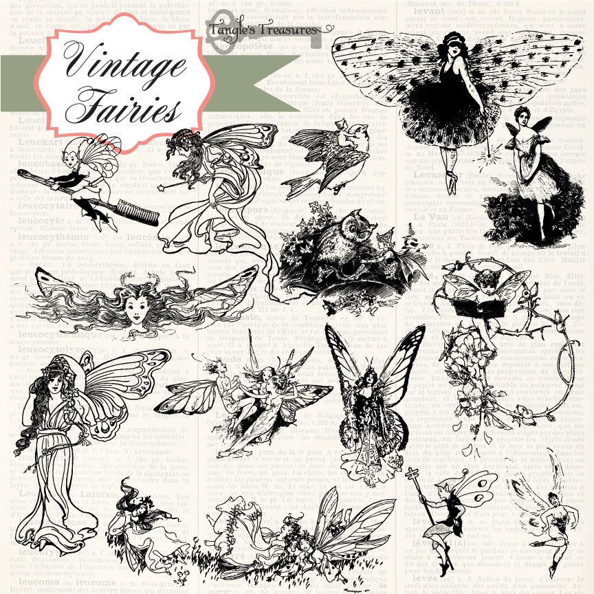 Vintage Fairies Clipart And Brushes Brushes On Creative