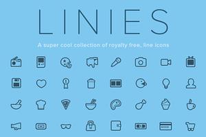 Linies - Line icon set