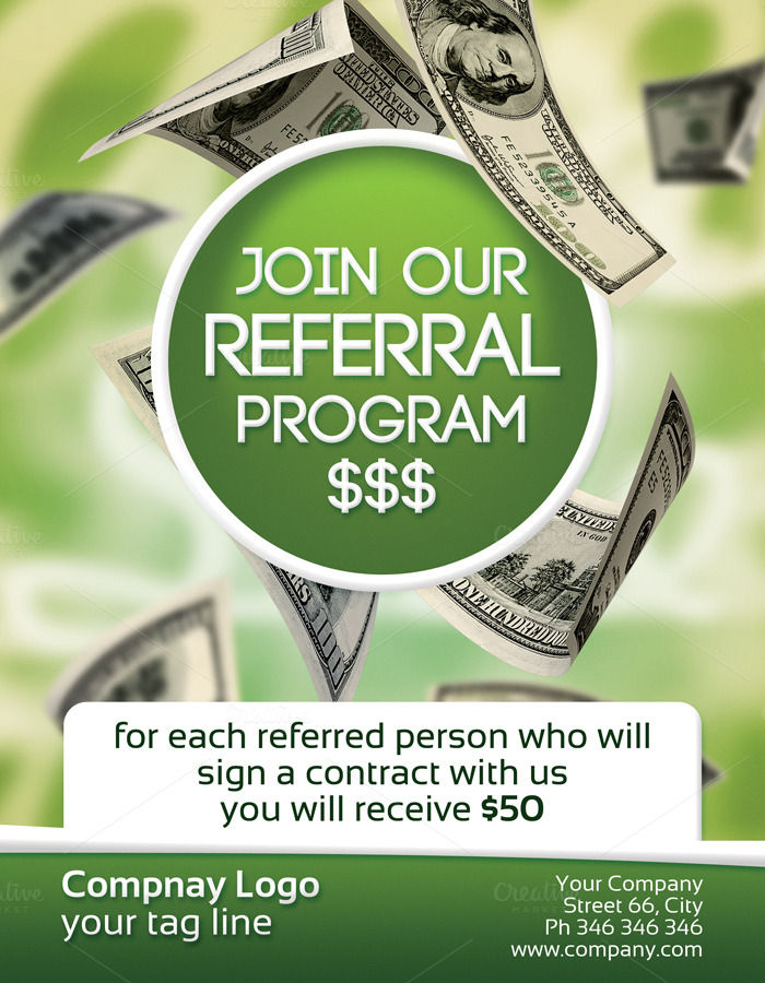 referral program 2 sided flyer
