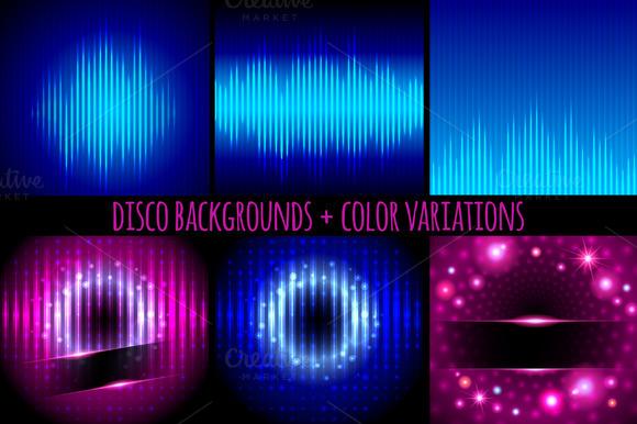 Disco backgrounds.Digital equalizers - Illustrations