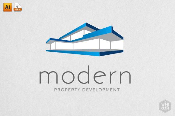 Modern real estate logo template logo templates on for Modern realtors real estate