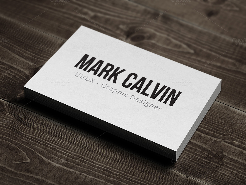 Simple Individual Business Card v2 ~ Business Card ...