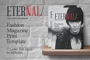 Fashion Magazine Print Template