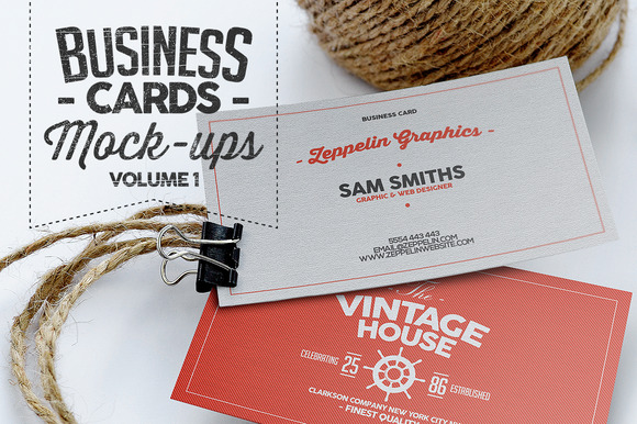 Business Card Mock-ups Vol.1 - Product Mockups