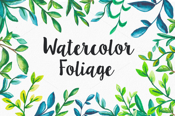 16 Watercolor Foliage