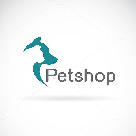 Vector Of An Dog And Cat Design