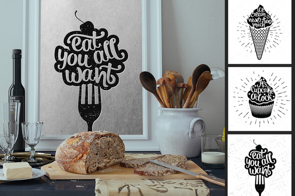 Hand Lettering Food Quotes