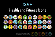 125+ Health and Fitness Ico-Graphicriver中文最全的素材分享平台