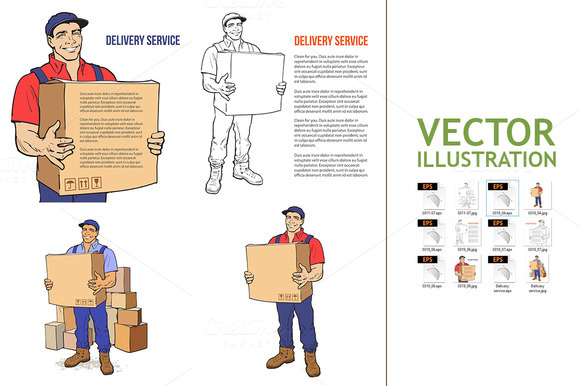 Delivery of goods. Moving Companies - Illustrations