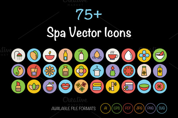 75 SPA Vector Icons