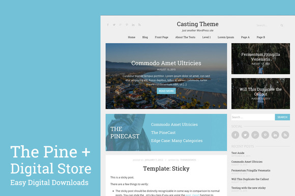 The Pine | Digital Store + Blog - Commerce