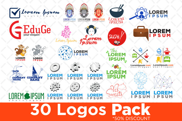 30 Logos Pack For Companies