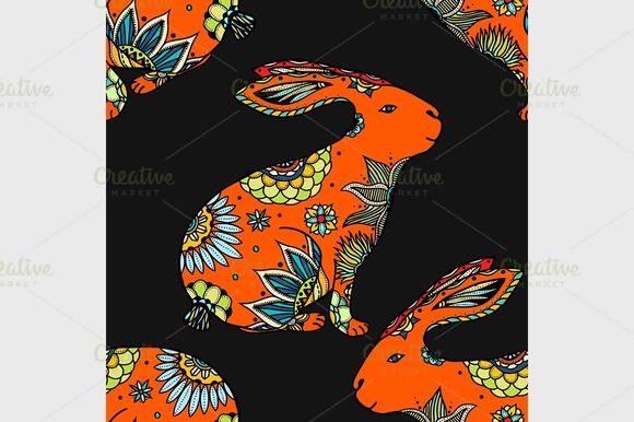 Background With Rabbits