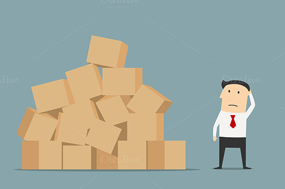 Businessman Standing Near Boxes