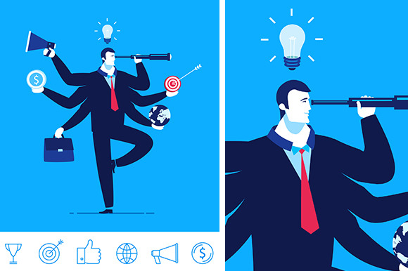 Vector Business Concept 6 Icons