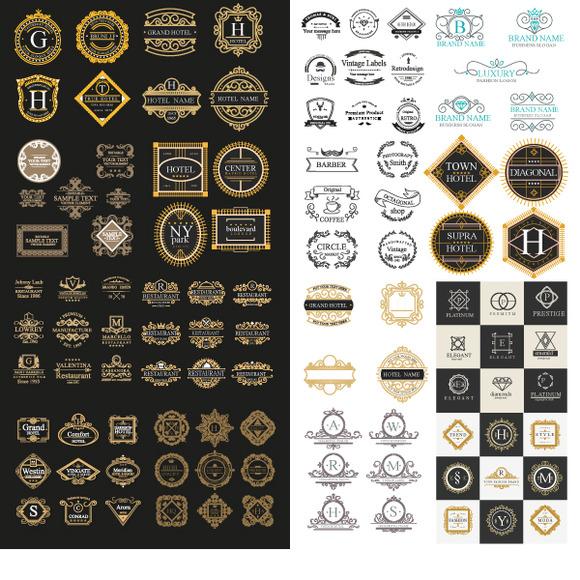 Luxury Logos Template 100 In 1 Ai
