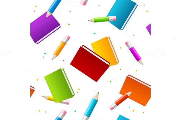 Book School Background Vector