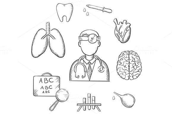 Stock Graphic Medical Sketch Icons Logotire Com