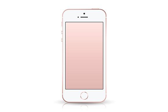 IPhone SE Rose Gold Mockup
