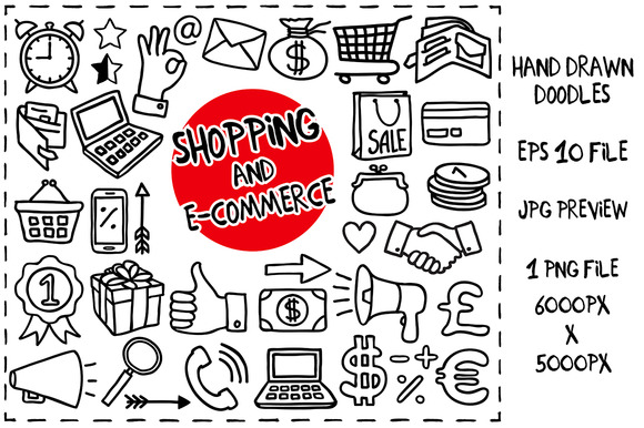 Shopping Doodles Set