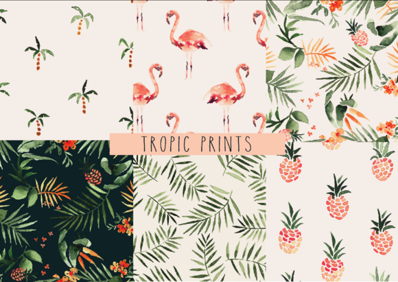 Tropical Pack Seamless Patterns