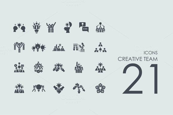 21 Creative Team Icons