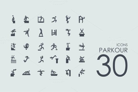 30 Parkour Icons