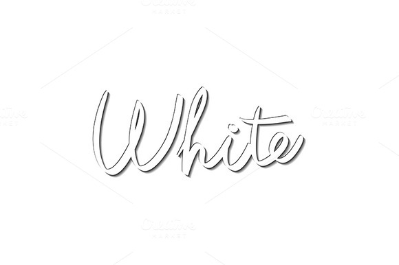 Hand-written Name Of The White