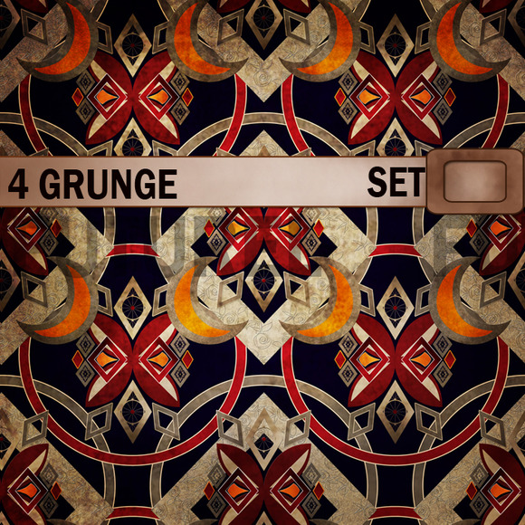 Set Of 4 Grunge Textures