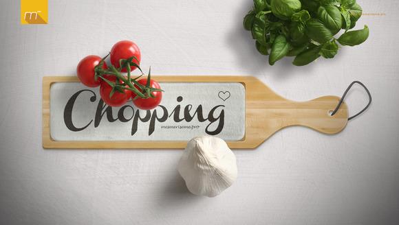 CM - Chopping Board + Glass Mock-up 602706