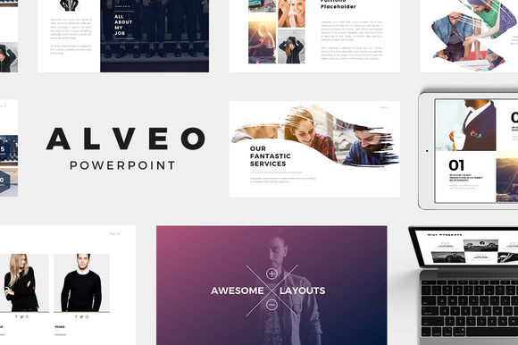 Alveo minimal powerpoint template presentation templates for Minimalist powerpoint template free