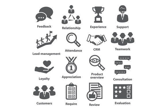 Business management icons. Pack 03. - Icons