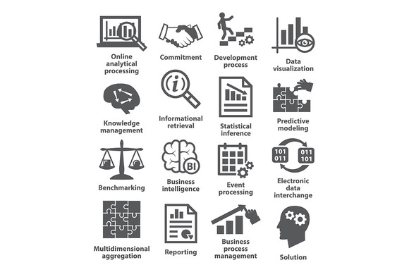 Business management icons. Pack 04. - Icons