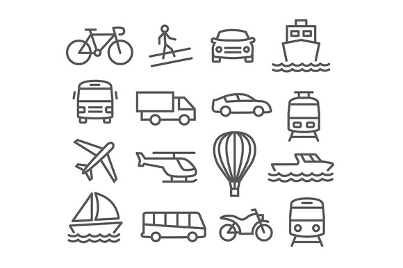 Transport Line Icons