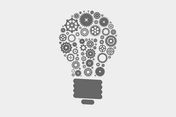 Lightbulb Made Of Gears