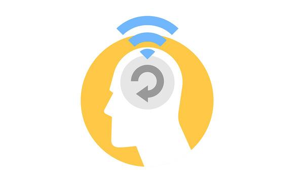 Icon Of Human Brain Thinking Process