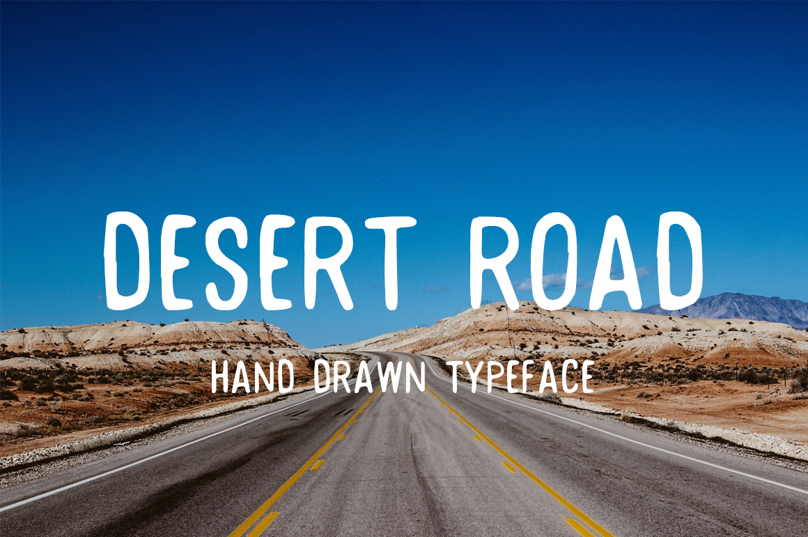 Desert Road Hand Drawn Typeface - Display - 1