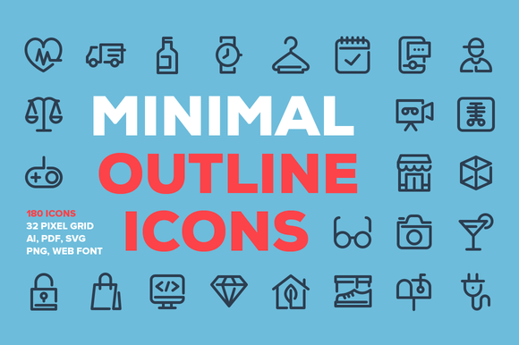 Minimal Line Icons