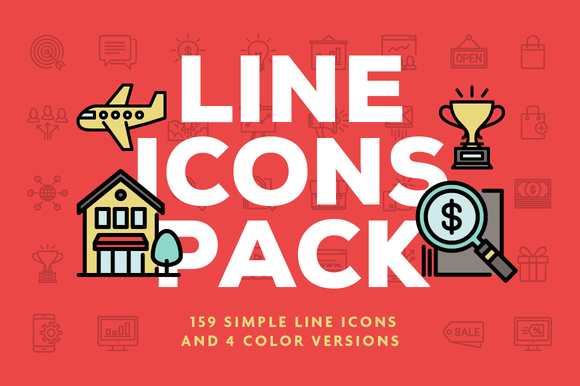 Line Icons Pack-Graphicriver中文最全的素材分享平台