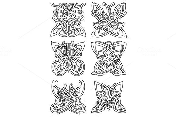 Butterfly Tribal Celtic Ornaments