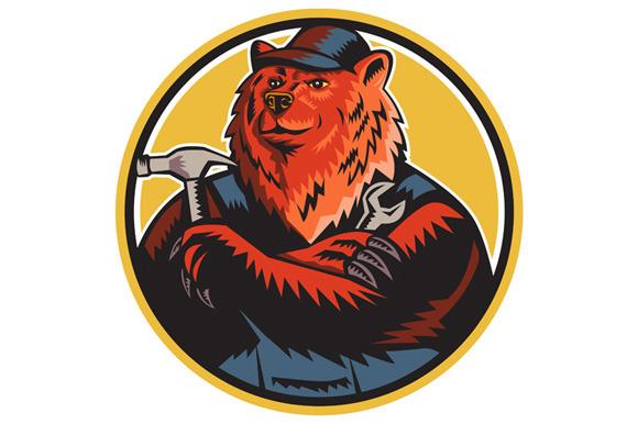 Russian Bear Builder Handyman Circle